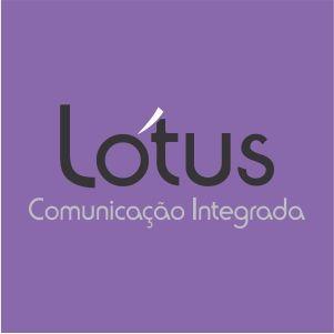 Marca Lótus Comunicação Integrada (Versão simplificada negativa)