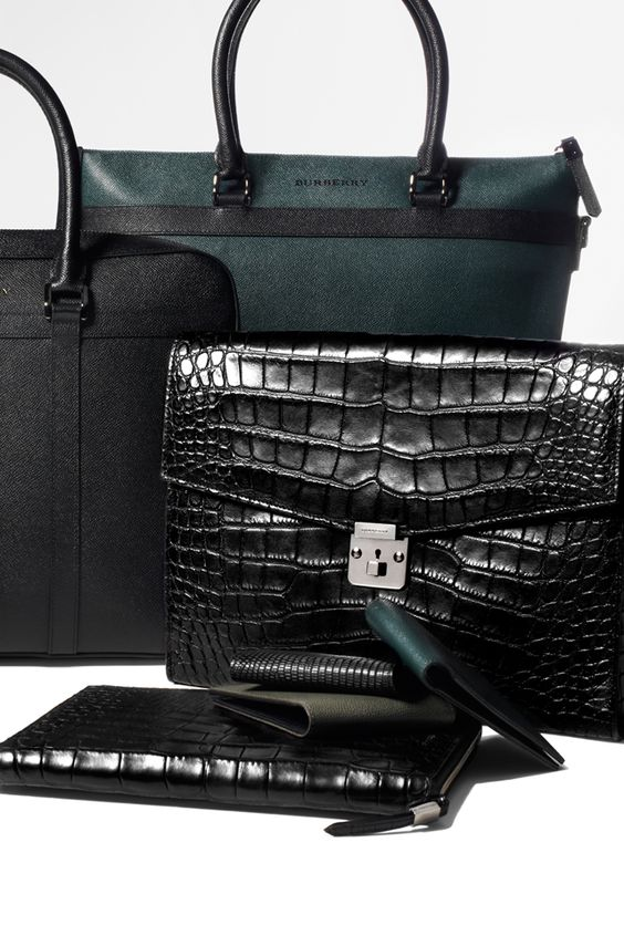 Burberry men's accessories from the Spring/Summer 2012 collection