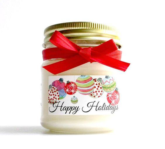 Grandpa's Christmas Mason Jar Soy Scented by WallFlowerCandleCo