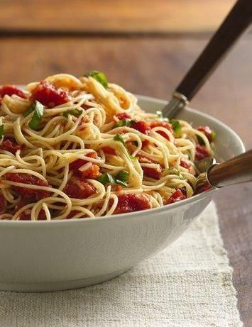 Angel Hair with Tomato and Basil | Recipe | Angel Hair, Tomatoes and ...
