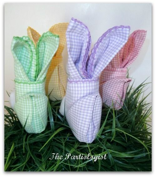 Cute bunny napkins
