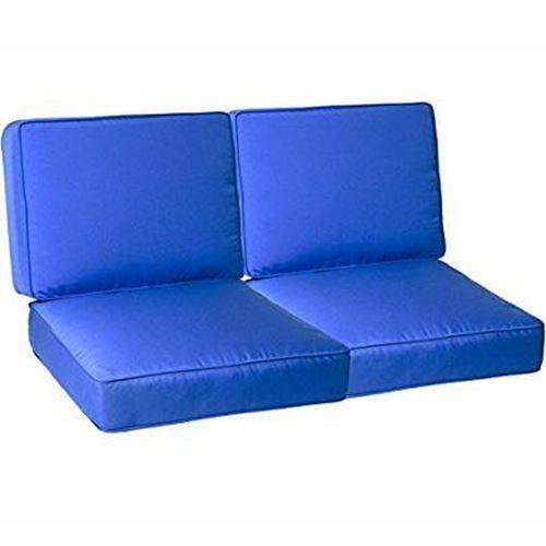 Seat 48x26x4 Back 48x20x4 Capri Boxed Edge Sungaurd Thread Ebay Outdoor Loveseat Cushion Love Seat Outdoor Chair Cushions