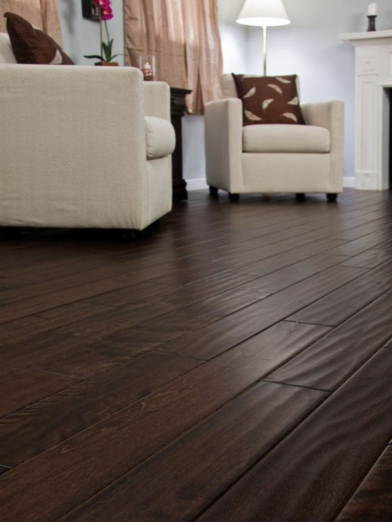 Give Your House A Rustic Look Use Dark Wood Flooring In 2020