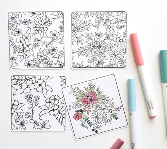 Coloring Mini Note Cards – Kori Clark