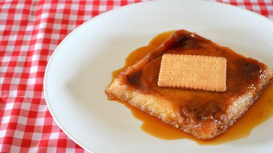 Flan de galletas María al microondas - Cocina fácil con Merce