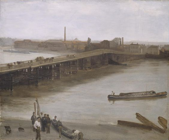Brown and Silver: Old Battersea Bridge, 1859 James McNeill Whistler