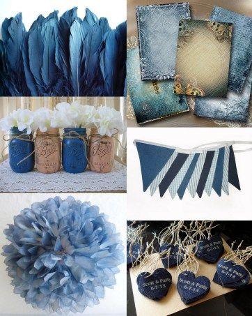 Denim and lace Decor