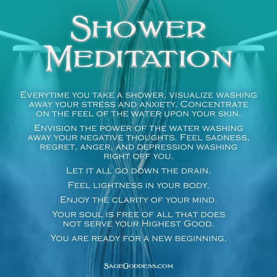 Envision the Power of Water washing away all traces of negative energies or physical manifestations of stress