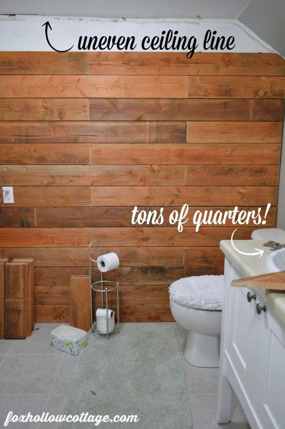 Fence Board Planked Wall How To Planked Walls Bath And