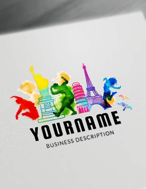 Online Travel Agent Logo Maker Designfreelogoonline Logomaker Online Travel Agent Travel Agency Logo Travel Logo