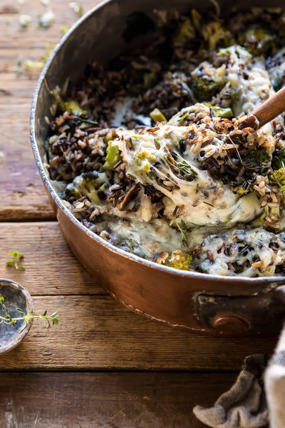 Cheesy Broccoli Wild Rice Casserole