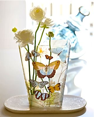 butterflies on a vase- perfect!
