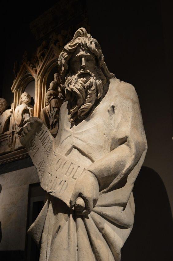 Siena Museo dellOpera del Duomo Giovanni Pisano Simeone (my photo)