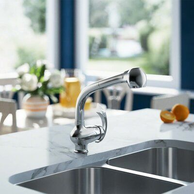 Mr Direct Pull Out Single Handle Kitchen Faucet
