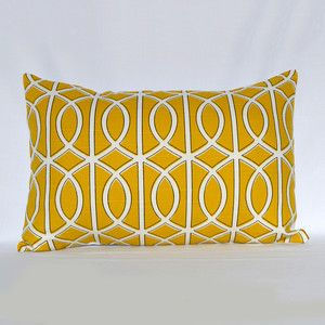 Modern Touch Bella Porte Pillow 12x18 Citrine now featured on Fab.