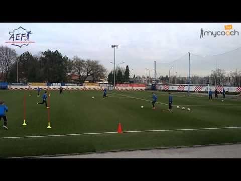 Entrainement Des U15 Du Dinamo Zagreb Youtube Football Training Drills Football Drills Soccer Drills