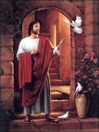 jesus con palomas