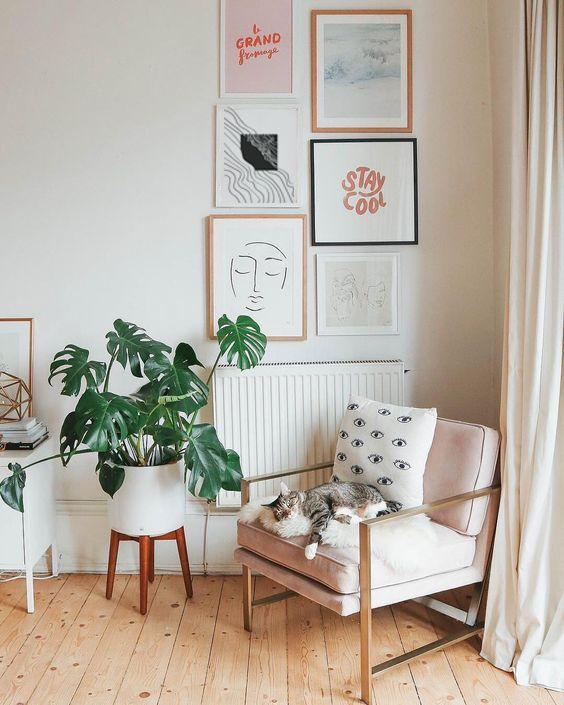 Line Art Print Minimalist Abstract Modern Wall Decor Etsy Retro Home Decor Retro Home Decor Room decor ideas etsy