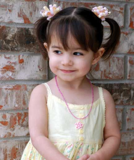 Toddler Girls Hairstyles High Ponytails And Girl