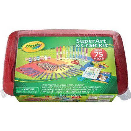 Crayola Super Art & Craft Kit 75 Pieces  - Red Lid