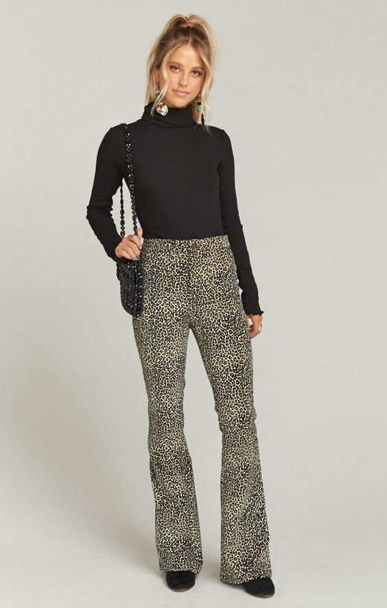 Trilby Pant ~ Stretch Velveteen Leopard | Show Me Your Mumu