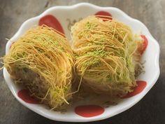 Kadayif - das ist lecker Fadenteig-Dessert auf türkische Art | Zeit: 15 Min. | http://eatsmarter.de/rezepte/fadenteig-dessert-auf-tuerkische-art-kadayif