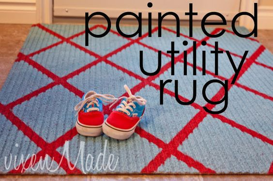 paint the ugly utility rug!
