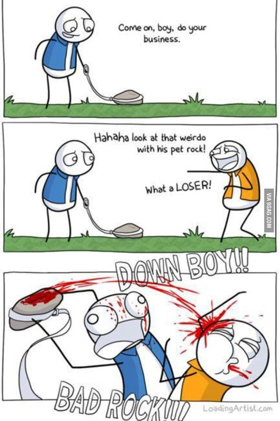 Who needs a cat or dog, when u have a rock.