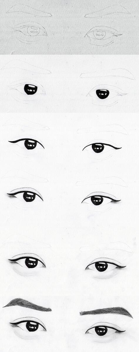 Hvordan Man Tegner Koreanske Øjne