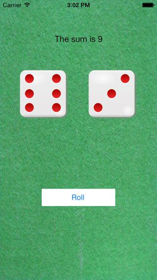 XCode iOS Simulator Dice Roll - add images to project