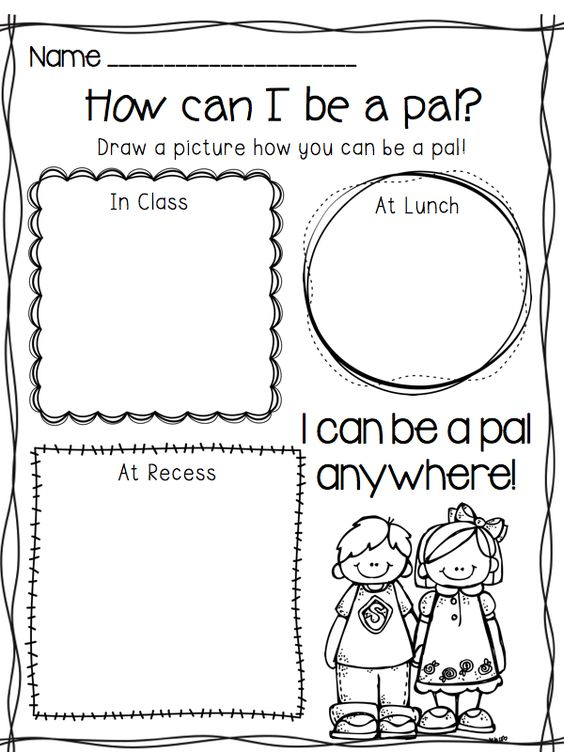 I Can Be A Pal building your classroom community – Social Skills for Kindergarteners Worksheets