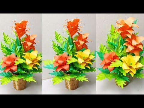 Rupali Craft Youtube In 2020 Paper Flowers Paper Flower Bouquet Flowers Bouquet