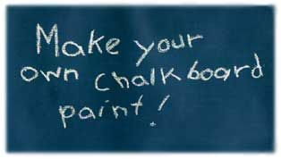 How to make chalkboard paint