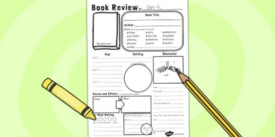 In Depth Book Review Writing Template book reviews Pinterest - book review template