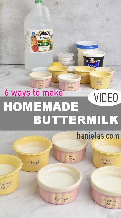 Homemade Buttermilk Recipe In 2020 Homemade Buttermilk How To Make Buttermilk Buttermilk