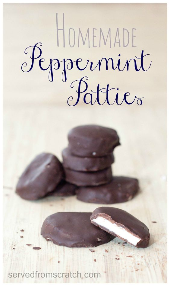 Homemdae Peppermint Patties from scratch with only 5 ingredients!