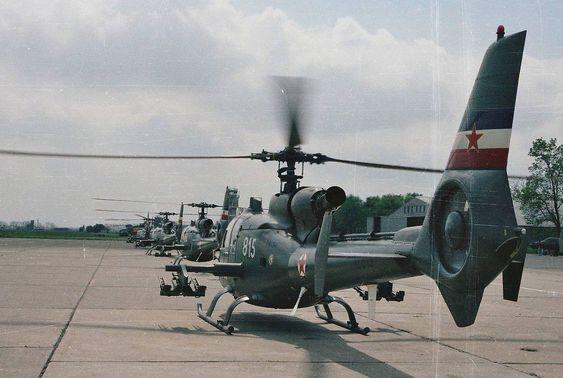 Yugoslav Soko Gazelle Helicopters Cold War Military Helicopter Military Helicopter