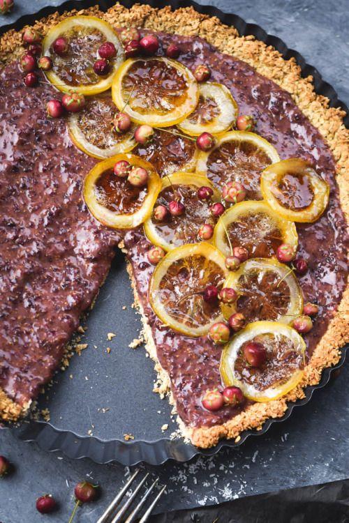 Chilean Guava Berry & Candied Lemon Tart (gluten  Mein Blog: Alles rund um die Themen Genuss & Geschmack  Kochen Backen Braten Vorspeisen Hauptgerichte und Desserts # Hashtag