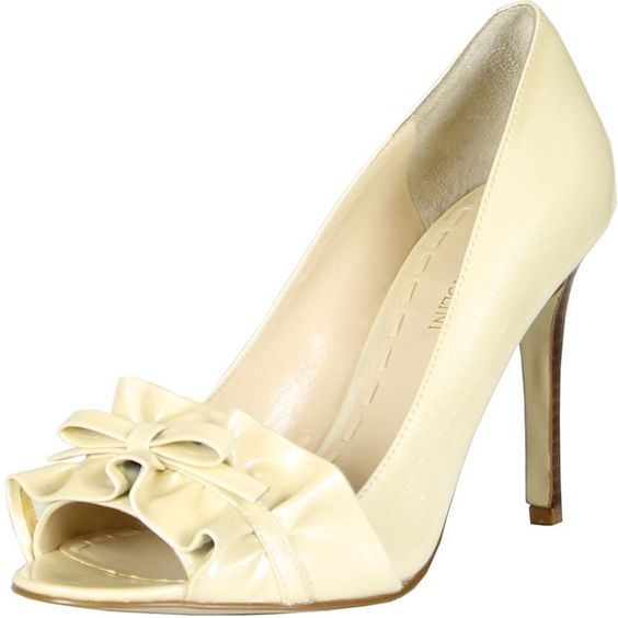 Enzo Angiolini Womens Mielee Pumps (60,105 KRW) ❤ liked on Polyvore featuring shoes, pumps, beige, enzo angiolini, beige patent shoes, beige patent pumps, beige shoes and patent leather shoes