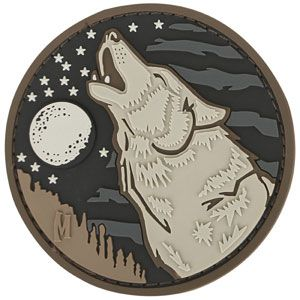 Wolf Morale Patch from Maxpedition. Made from PVC rubber. www.Maxpedition.com