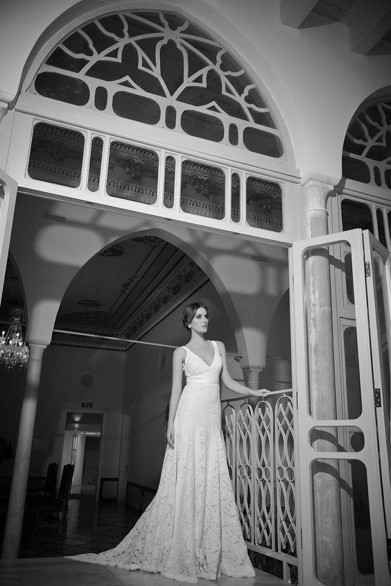 Lace Wedding gown by Arava Polak