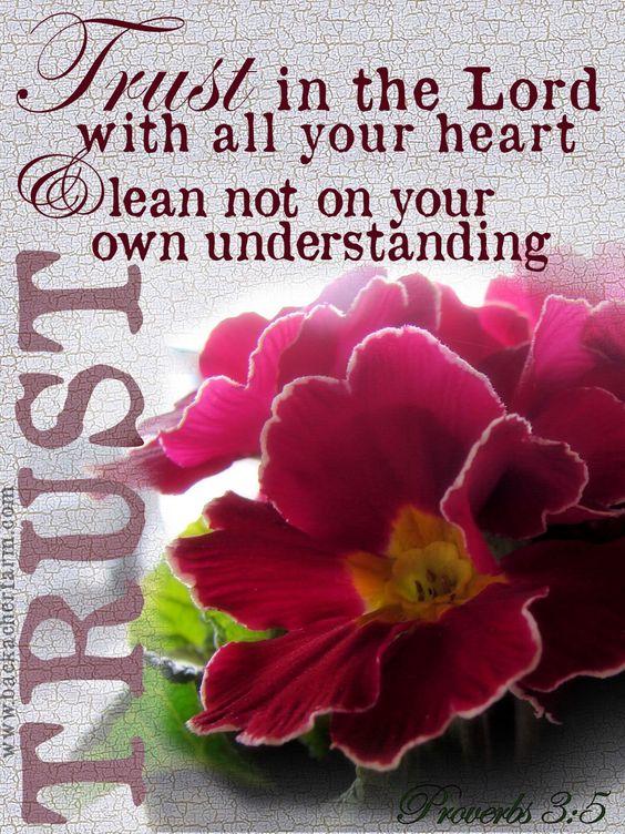 Proverbs 3:5 ❥