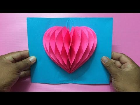 How To Make Heart Pop Up Card Making Valentine S Day Pop Up
