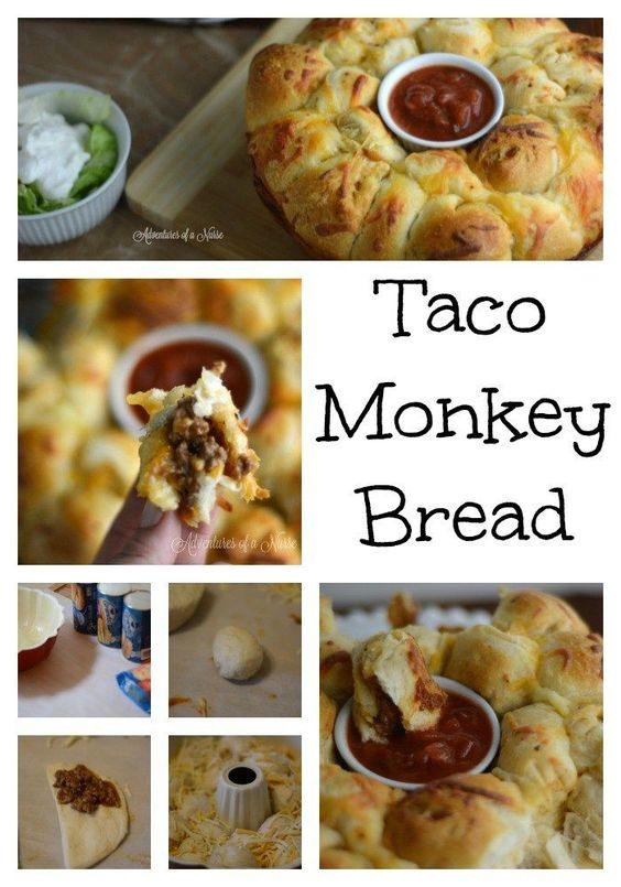 Taco Monkey Bread perfect for Taco Tuesday