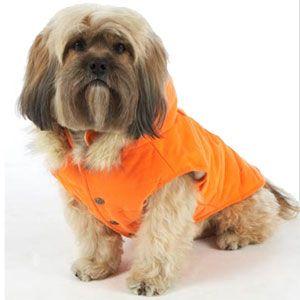 Down filled dog coat