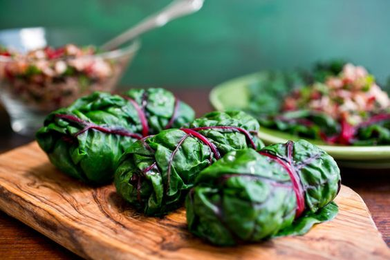 Chard Leaves Stuffed With Rice and Herbs via Martha Rose Shulman for The New York Times