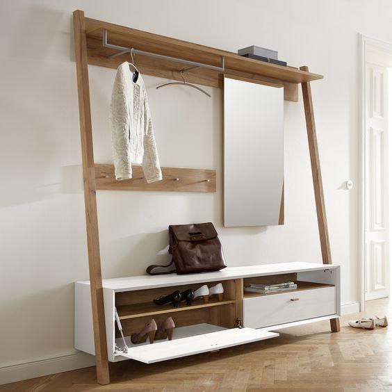 ce meuble d 39 entr e scandinave borgund est un meuble tout en un pour une entr e organis e et. Black Bedroom Furniture Sets. Home Design Ideas