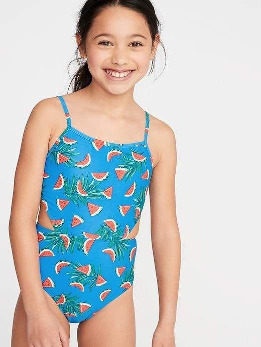 Breaking Waves Girls Little  Adventure One Piece Swimsuit