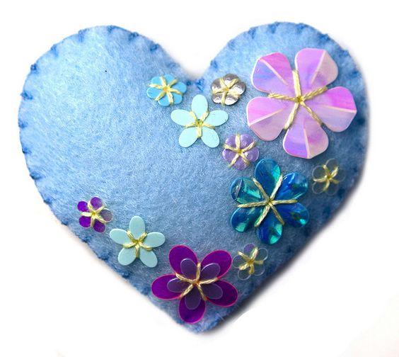 Corazón flores