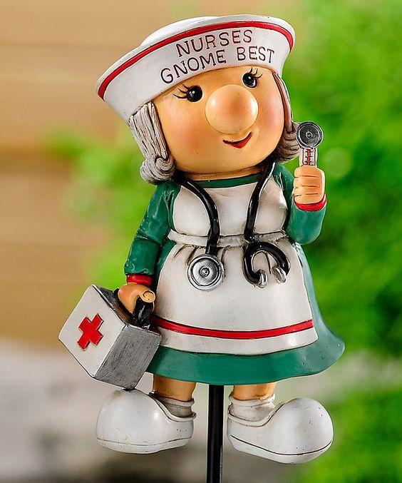 Look at this #zulilyfind! Nurse Gnome Garden Stake by  #zulilyfinds